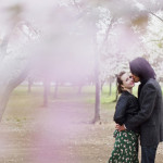 Kendra & Kevin's Romantic Cherry Blossom Engagement Pictures
