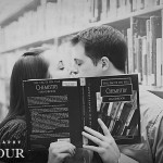 Christopher & Cassie's Library Engagement Pictures in Virginia