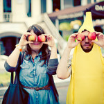 Mandy & Spencer's Offbeat Dupont Circle Farmer's Market Engagement in DC