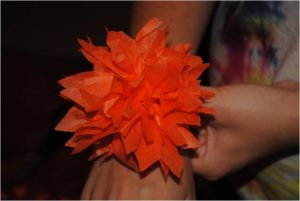 diy how to make tissue paper pomander