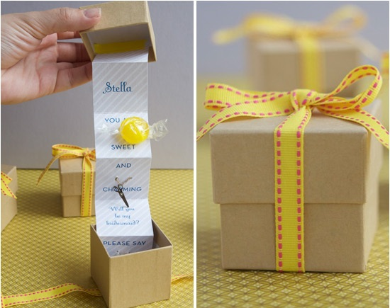 Diy Wedding Gift Box: DIY Bridesmaid Gift Box Unique