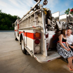 Emily & Brandon's Maryland Firehouse Engagement Pictures