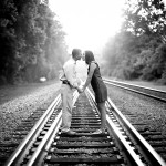 Ashley & Justin's Dreamy Railroad Tracks Engagement in Virginia