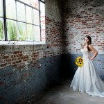 Capitol Inspiration: Industrial Bridal Portraits with Sunflowers