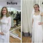 Wedding Dress Re-imagined – Bride's Dress from her Mom's Original