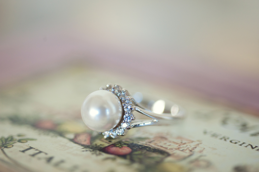 love this nondiamond engagement ring a pearl