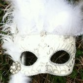 nontradition bouquet alternative bridal venetian masks wedding (1)