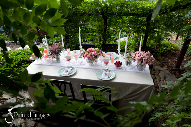 Romantic Pink Teal Summer Garden Bridal Shower Design Vendors