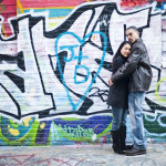 Jane & Derrell's Graffiti Engagement Session in Baltimore, Maryland