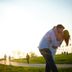 Nathan & Di's Baseball & Cherry Blossoms Engagement Session