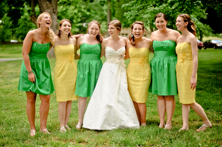 Two Different Coloured Bridesmaid Dresses? - Weddingbee