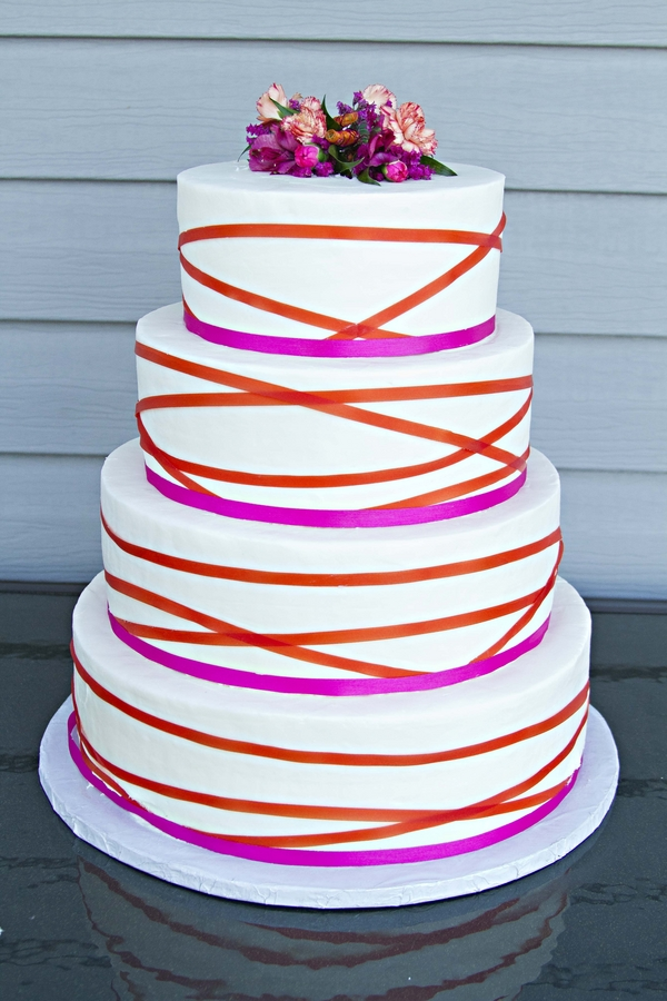 Gallery For Gt Hot Pink And Orange Wedding Cakes