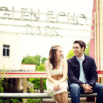 Christiana & Aaron's Glen Echo Park Engagement in Maryland