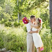 offbeat wedding details DIY handmade hot pink orange backyard wedding pictures (1)