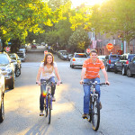 Gretchen & Tom's Bicycle Riding Engagement in Old Town Alexandria, VA