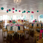 Mallory & Hoyt's Offbeat Hot Pink & Teal Virginia Wedding