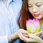 Mark & Sup's Blooming Lotus Flower Engagement Session at Kenilworth Aquatic Gardens