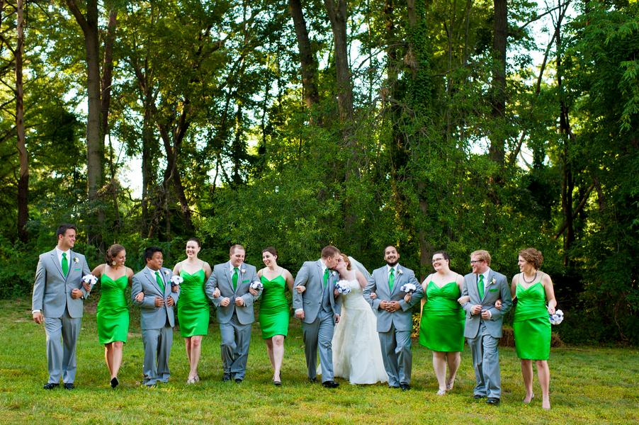 Danielle & Braxton\'s Offbeat, Bright Green Wedding in Alexandria, VA ...