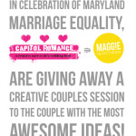 Photography Giveaway with Maggie Winters Photography for Maryland Marriage Equality