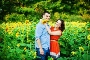 potomac maryland weddings engagement photographer sunflower field pictures (5)
