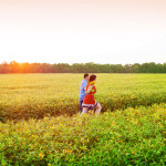 Capitol Romance: Vanessa & Adam's Potomac, MD Sunflower Field Engagement
