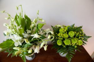 green nature inspired modern maryland wedding tent stones ferns (5)