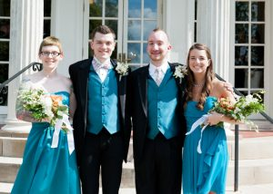 same sex maryland wedding offbeat orange teal pictures (7)