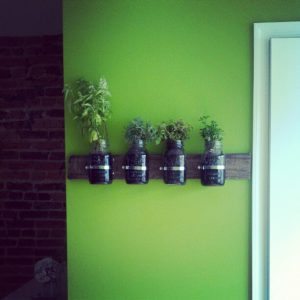 DIY tutorial indoor herb garden mason jars step by step instructions