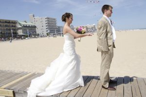 ocean city maryland beach wedding theme blog hot pink (5)