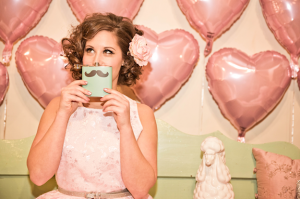 vintage pink & Teal valentine's heart balloons wedding inspiration (11)