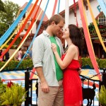 Capitol Romance: Becca & Matt's Busch Gardens Engagement Session in Virgina