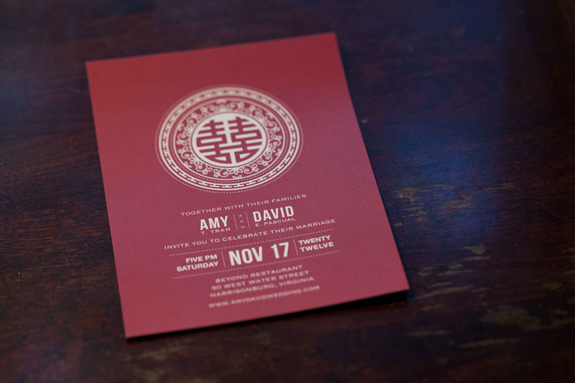 Capitol Wedding Amy Davids Modern DIY Traditional Chinese – Chinese Wedding Invites