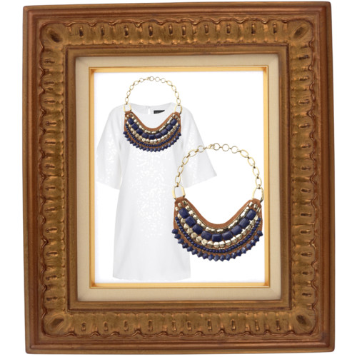 casual statement necklace modern wedding attire