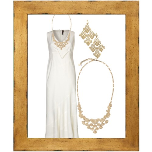 lace gold bride statement jewelry bridesmaids modern