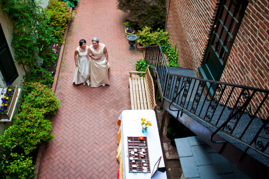 washington dc garden party wedding Arts Club of Washington