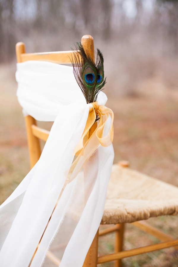 DIY peacock feather wedding decor bridal feathers