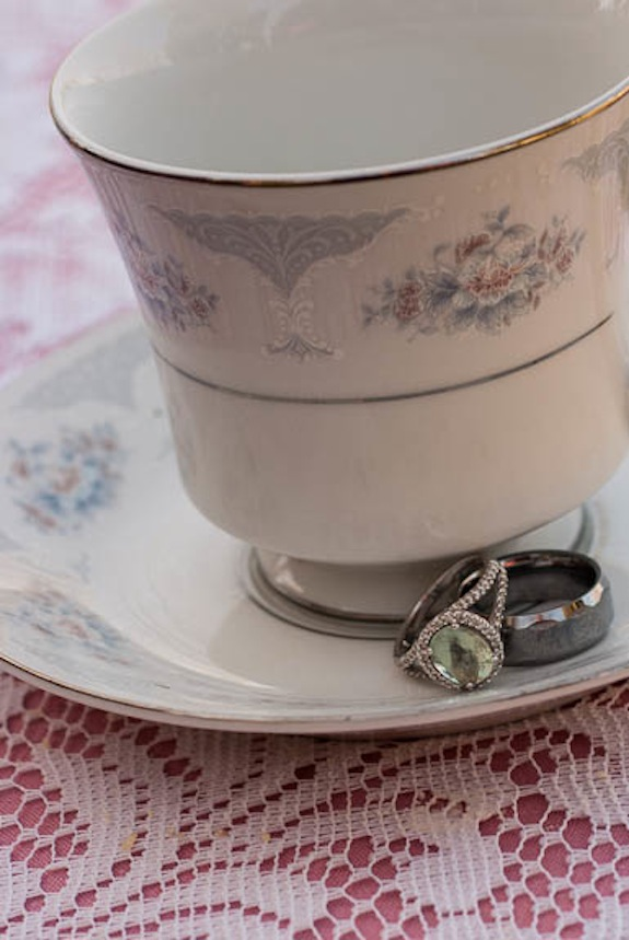 engagement rings vintage tea cup
