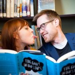 Capitol Romance: Eliza & Josh's Offbeat, Nerdy Library Engagement Session
