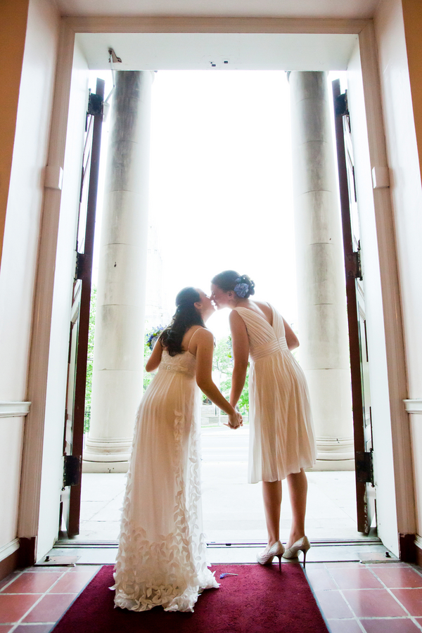 same sex washington dc wedding all souls unitarian blue green