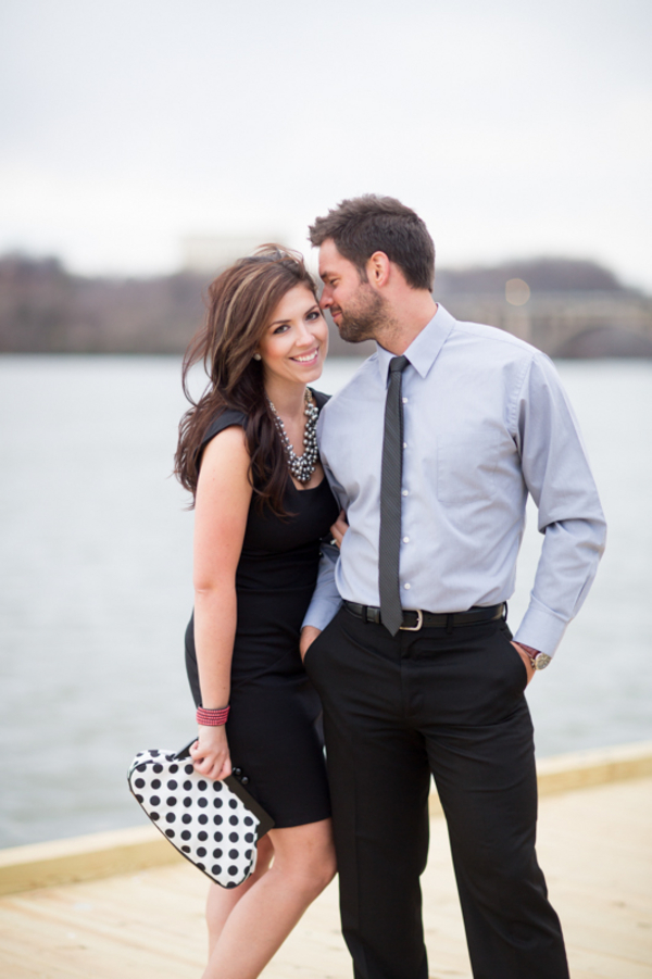 stylish modern washington dc engagement pictures georgetown