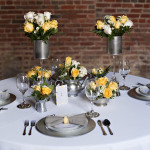 Capitol Inspiration: Yellow & Grey, Modern Industrial Wedding Inspiration