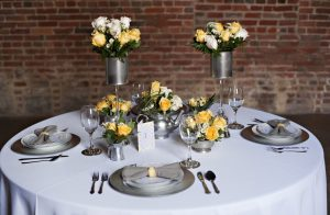 Capitol Inspiration Yellow Grey Modern Industrial Wedding