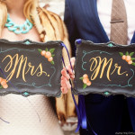 Giveaway: Hand Painted Mr. & Mrs Chair Back Signs