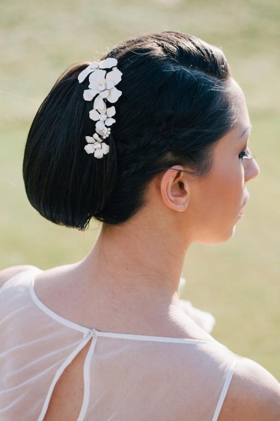 modern elegant bride updo hairstyle