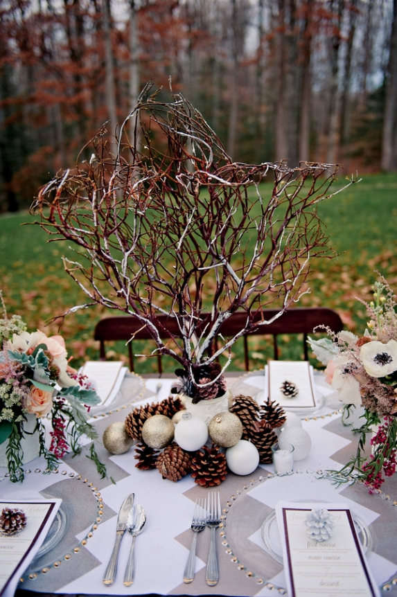 Washington dc wedding blog winter wedding details for Winter themed wedding centerpieces