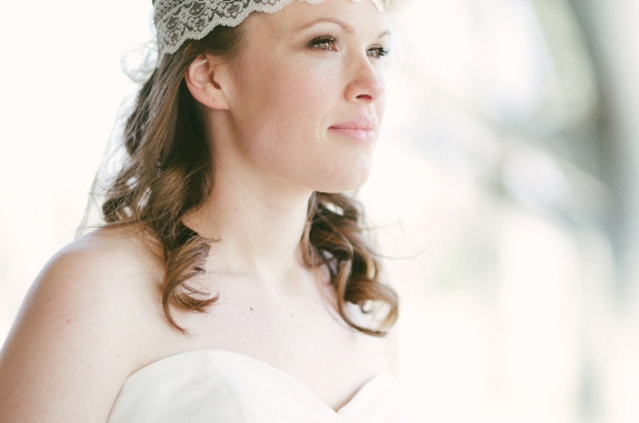 whimisical bohemian bride non-veil lace headband