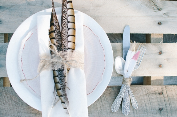 bohemian bride wedding inspired styled shoot pictures feather table setting whimsical