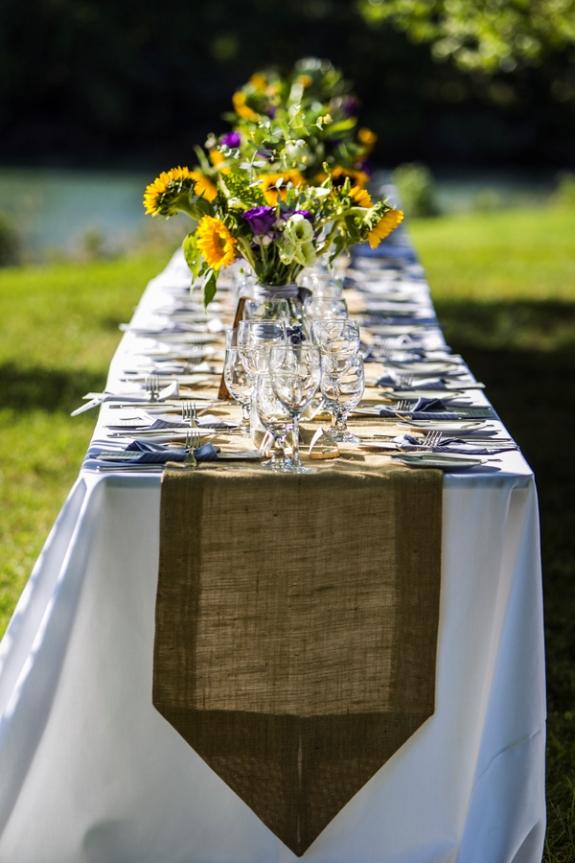 DIY yellow sunflowers offbeat outdoors maryland farm wedding