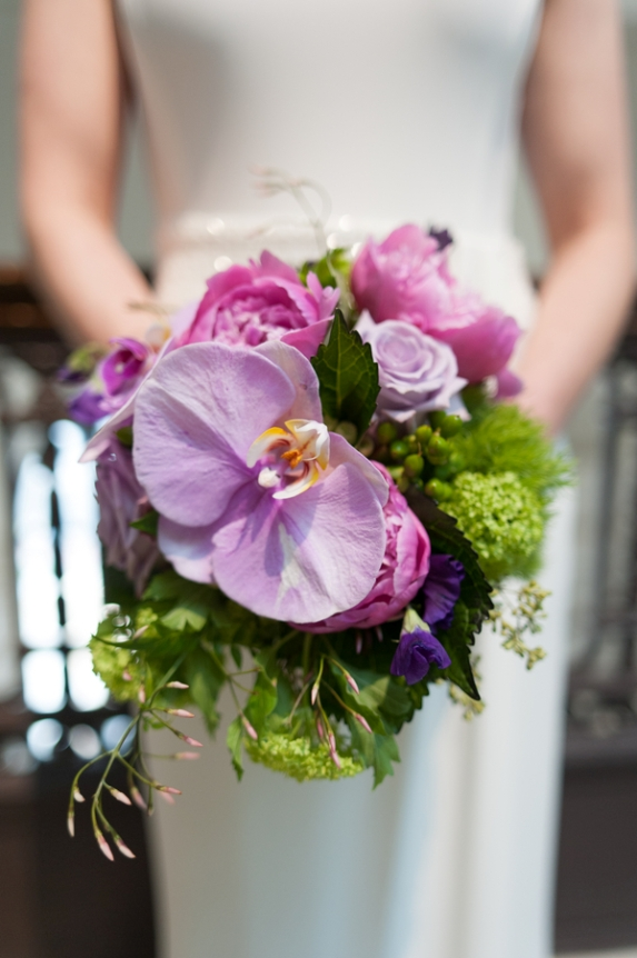 stunning unique purple bridal bouquet