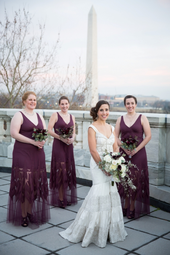 bridesmaids unique purple dresses  washington dc portrait
